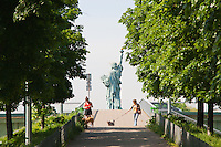 Statue of Liberty Paris France in Spring time of May 2008
