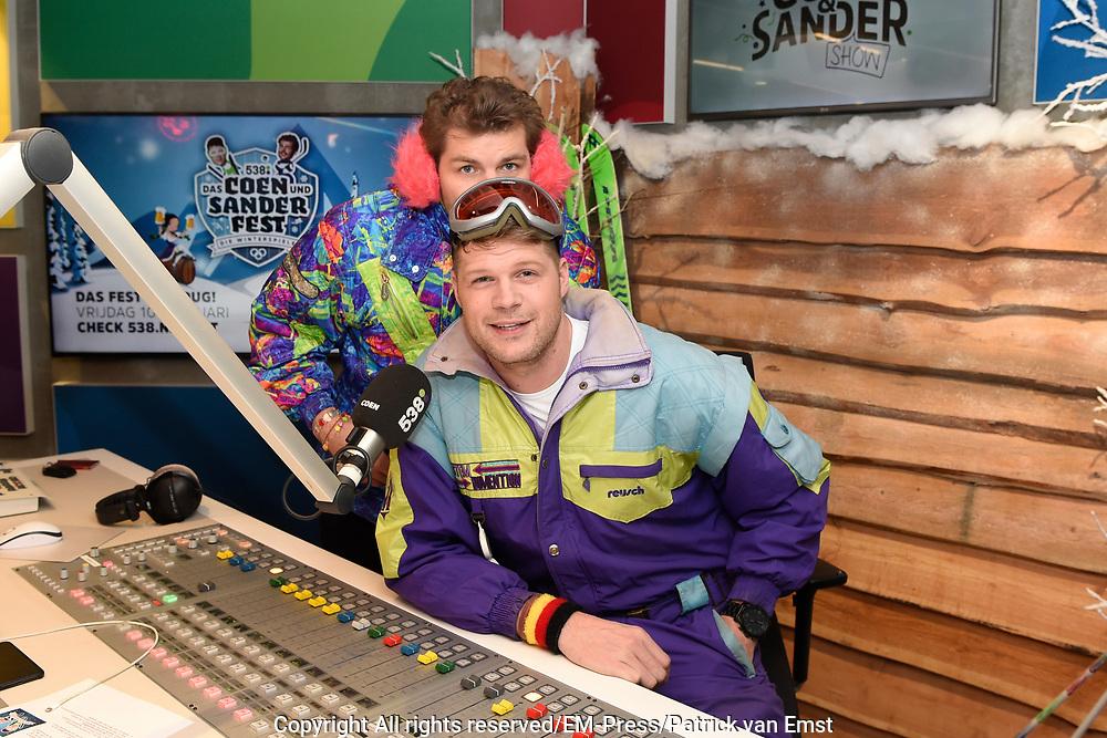 Kick Off Das Coen und Sander Fest in de studio van Raduio 538.<br /> <br /> Op de foto:  Coen Swijnenberg en Sander Lantinga Nicolien Sauerbreij