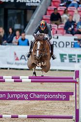 Cordon Pilar (ESP) - Coriana van Klapscheut <br /> PSI FEI European Championships Jumping - Herning 2013<br /> © Dirk Caremans