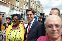 Ed Miliband East Street Market Visit. Labour leader Ed Miliband during a  living standards related visit to South East London's East Street Market.  This is Milliband's first official visit since coming back from holiday, <br /> East Street Market, London, United Kingdom. Wednesday, 14th August 2013. Picture by Andrew Parsons / i-Images