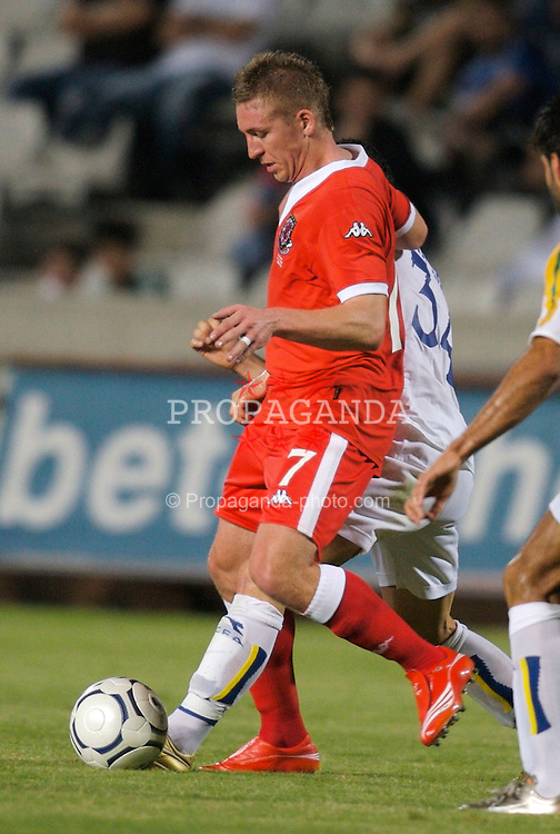 Nicosia, Cyprus - Saturday, October 13, 2007: Wales' Freddy Eastwood in action against Cyprus during the Group D UEFA Euro 2008 Qualifying match at the New GSP Stadium in Nicosia. (Photo by David Rawcliffe/Propaganda)