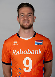 14-05-2018 NED: Team shoot Dutch volleyball team men, Arnhem<br /> Ewoud Gammons #9 of Netherlands