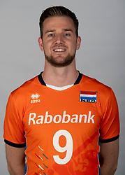14-05-2018 NED: Team shoot Dutch volleyball team men, Arnhem<br /> Ewoud Gammons #9 of Netherlands