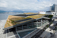 Canada Place Convention Centre with Living Roof of Grass, Vancouver, BC