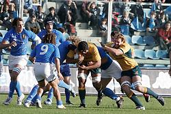 Roma 11-11-2006 - Sport - Rugby - Jaguar Test Match. Match Italia vs Australia.