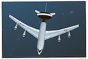E-3A AWACS top view, aerial