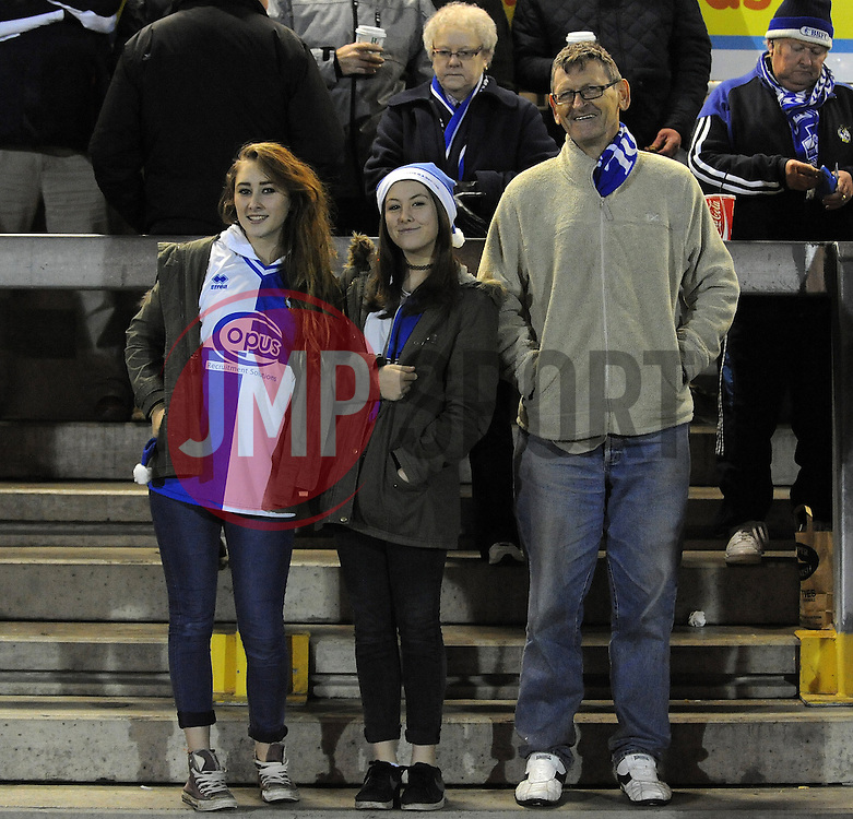 Bristol Rovers fans - Photo mandatory by-line: Neil Brookman/JMP - Mobile: 07966 386802 - 19/12/2014 - SPORT - football - Bristol - Memorial Stadium - Bristol Rovers v Gateshead  - Vanarama Conference