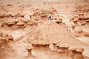 Andy Wickert, on a geology field trip with the University of Colorado, takes pictures among hoodoos in Goblin Valley State Park, Utah.