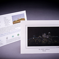 Our only digitally enhanced photograph; the Nubble Lighthouse in Maine is popular during the Annual Lighting of the Lighthouse event.  The Nubble is the most photographed lighthouse in America.  Includes the award winning recipe for Lobster Corn Chowder from the York Harbor Inn. <br /> <br /> Artemis Photo Greeting Cards featuring NH native flora and fauna and historic sites. The cards are made exclusively in NH made from 100% FSC recycled paper, manufactured with wind and water power, and are archival acid free paper. Each card includes details on the back about the image, including interesting anecdotes, historic facts, conservation status, and recipes.