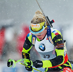 Dorin Habert Marie of France competes during Ladies 7,5 km Sprint of the e.on IBU Biathlon World Cup on Thursday, December 14, 2012 in Pokljuka, Slovenia. The third e.on IBU World Cup stage is taking place in Rudno polje - Pokljuka, Slovenia until Sunday December 16, 2012. (Photo By Vid Ponikvar / Sportida.com)