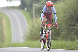 July 28, 2018 - Espelette, FRANCE - Russian Ilnur Zakarin of Team Katusha-Alpecin pictured in action during the 20th stage of the 105th edition of the Tour de France cycling race, a 31km individual time trial from Saint-Pee-sur-Nivelle to Espelette, France, Saturday 28 July 2018. This year's Tour de France takes place from July 7th to July 29th...BELGA PHOTO YORICK JANSENS (Credit Image: © Yorick Jansens/Belga via ZUMA Press)