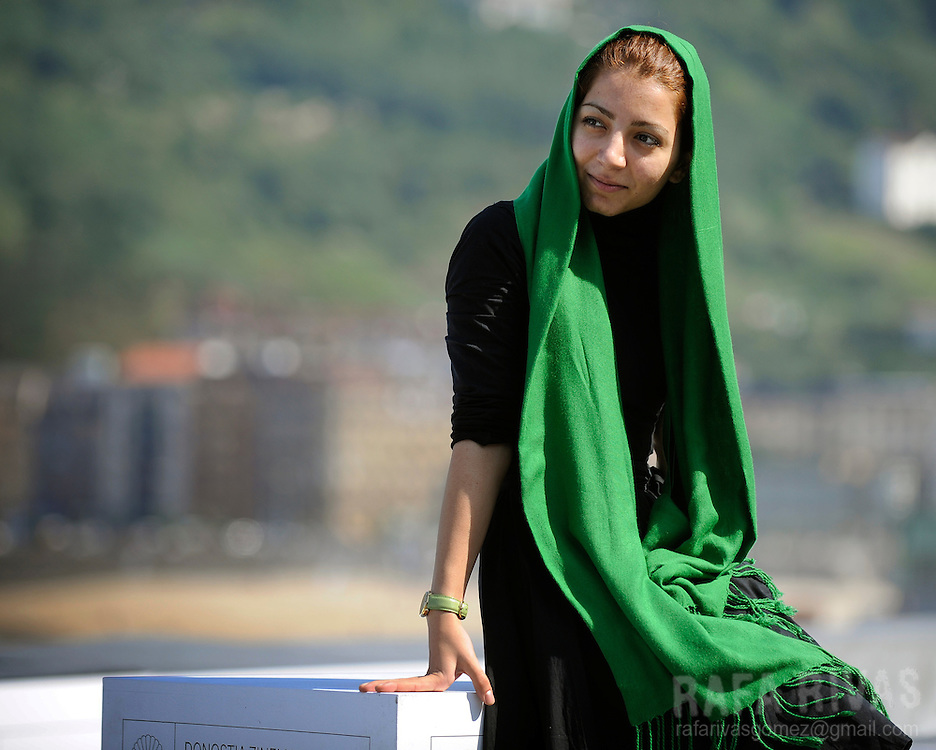 "Iranian director Hana Makhmalbaf poses for photographers, on September 26, 2009, after the screening of her film ""Green Days"", during the 57th San Sebastian International Film Festival, in the northern Spanish Basque city of  San Sebastian. PHOTO/Rafa Rivas"