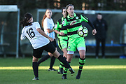 Forest Green Rovers Issy Newns(10) during the South West Womens Premier League match between Forest Greeen Rovers Ladies and Marine Academy Plymouth LFC at Slimbridge FC, United Kingdom on 5 November 2017. Photo by Shane Healey.