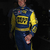 NASCAR Sprint Cup driver Ricky Stenhouse Jr. is seen in the garage area, during a NASCAR Daytona 500 practice session at Daytona International Speedway on Wednesday, February 20, 2013 in Daytona Beach, Florida.  (AP Photo/Alex Menendez)
