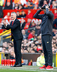 File photo dated 24-02-2019 of Manchester United caretaker manager Ole Gunnar Solskjaer (left) reacts from the touchline during the Premier League match at Old Trafford, Manchester.