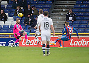 Dundee keeper Scott Bain saves from Inverness' Henri Anier  - Inverness Caledonian Thistle v Dundee in the Ladbrokes Scottish Premiership at Caledonian Stadium, Inverness.Photo: David Young<br /> <br />  - &copy; David Young - www.davidyoungphoto.co.uk - email: davidyoungphoto@gmail.com