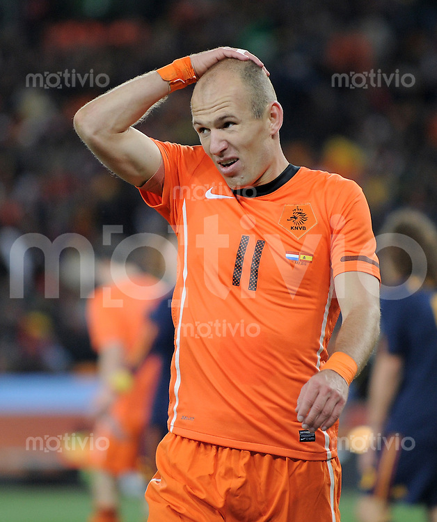 FUSSBALL WM 2010  FINALE   11.07.2010 Holland - Spanien Arjen ROBBEN (Holland)