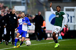 Liam Sercombe of Bristol Rovers is marked by Josh Grant of Plymouth Argyle - Mandatory by-line: Ryan Hiscott/JMP - 01/12/2019 - FOOTBALL - Memorial Stadium - Bristol, England - Bristol Rovers v Plymouth Argyle - Emirates FA Cup second round