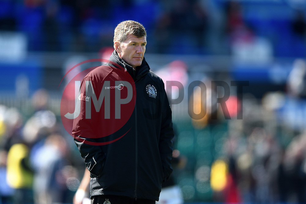 Exeter Chiefs Director of Rugby Rob Baxter looks on during the pre-match warm-up - Mandatory byline: Patrick Khachfe/JMP - 07966 386802 - 04/05/2019 - RUGBY UNION - Allianz Park - London, England - Saracens v Exeter Chiefs - Gallagher Premiership Rugby