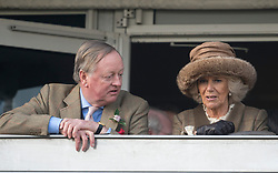 Andrew Parker Bowles with his ex-wife Camilla Duchess of Cornwall at the Cheltenham Festival Ladies Day. Cheltenham Racecourse, Cheltenham, United Kingdom. Wednesday, 12th March 2014. Picture by i-Images