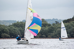 "© Licensed to London News Pictures.  17/09/2017; Chew Valley Lake, Somerset, UK. 'Bart's Bash 2017, part of the World's Largest Sailing Event held across the UK and internationally. Chew Valley Lake Sailing Club takes part in the annual Bart's Bash Event with other sailing clubs around the world to help raise funds for the Andrew ""Bart"" Simpson Foundation, a charity which helps young people of all abilities improve their lives through participation in the sport of sailing, and which this year is supporting sailing clubs adversely affected by Hurricane Irma. There are currently 587 clubs worldwide involved and 79 countries. This year 77 boats took part at Chew Valley Lake and the club was the 4th largest participant in the world this year. Picture credit : Simon Chapman/LNP"