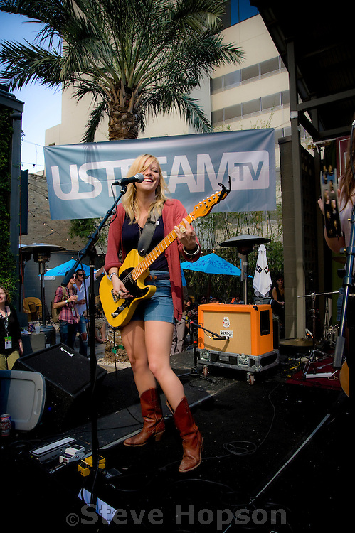 Stacey Byrd of The Bridges performs at the  Paste Magazine/Vanguard Records/Sugar Hill/Russell Carter Management party during South by Southwest 2009, Austin Texas, March 20, 2009.