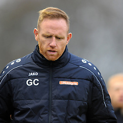 TELFORD COPYRIGHT MIKE SHERIDAN Telford boss Gavin Cowan during the Buildbase FA Trophy 3Q fixture between Guiseley and AFC Telford United at Nethermoor Park on Saturday, November 23, 2019.<br /> <br /> Picture credit: Mike Sheridan/Ultrapress<br /> <br /> MS201920-031