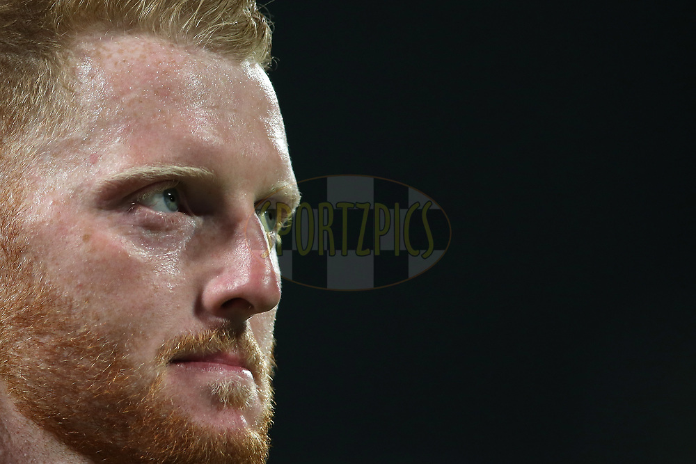 Ben Stokes of Rising Pune Supergiant during match 39 of the Vivo 2017 Indian Premier League between the Rising Pune Supergiants and the Gujarat Lions held at the MCA Pune International Cricket Stadium in Pune, India on the 1st May 2017<br /> <br /> Photo by Shaun Roy - Sportzpics - IPL