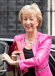 © Licensed to London News Pictures. 18/06/2018. London, UK. Leader of the House of Commons, Andrea Leadsom, arrives for an emergency cabinet meeting in Downing Street. Mrs May announced further spending on the National Health Service  saying 'NHS in England is to get an extra £20bn a year by 2023 as a 70th birthday present'.  Photo credit: Peter Macdiarmid/LNP