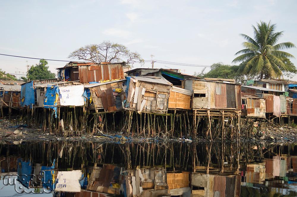 Shantytown Along River