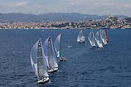 FRANCE, Marseille, 10th June 2009, AUDI MedCup, Marseille Trophy, Race 1, the fleet heads downwind.