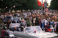 Gorbachev and Castro in Havana in April 1989.  Photograph published in TIME...Photograph by Dennis Brack bb 27
