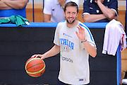 TRENTO TRENTINO BASKET CUP - 07082013 - ALLENAMENTO <br /> NELLA FOTO : DANIELE CAVALIERO<br /> FOTO CIAMILLO