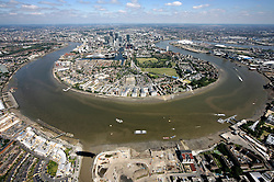 UK ENGLAND LONDON 22JUL08 - The Zeppelin  'Star over London' casts a shadow at the Isle of Dogs during a flight route over central London. ..jre/Photo by Jiri Rezac..© Jiri Rezac 2008..Contact: +44 (0) 7050 110 417.Mobile:  +44 (0) 7801 337 683.Office:  +44 (0) 20 8968 9635..Email:   jiri@jirirezac.com.Web:    www.jirirezac.com..© All images Jiri Rezac 2008 - All rights reserved.