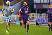 Portsmouth midfielder Ben Close runs forward during the EFL Sky Bet League 1 match between Coventry City and Portsmouth at the Trillion Trophy Stadium, Birmingham, England on 11 February 2020.