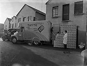 Picture of Loading Tayto Crisps at Tayto, Rathmines.31/01/1958