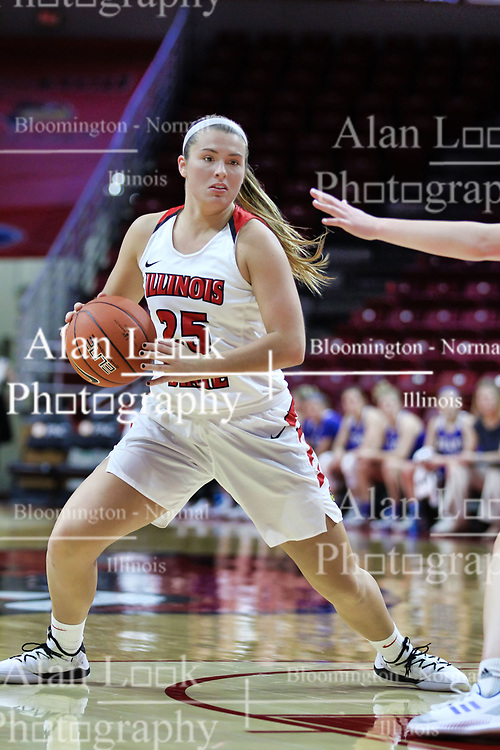 NORMAL, IL - January 06: Lexi Wallen during a college women's basketball game between the ISU Redbirds and the Drake Bulldogs on January 06 2019 at Redbird Arena in Normal, IL. (Photo by Alan Look)