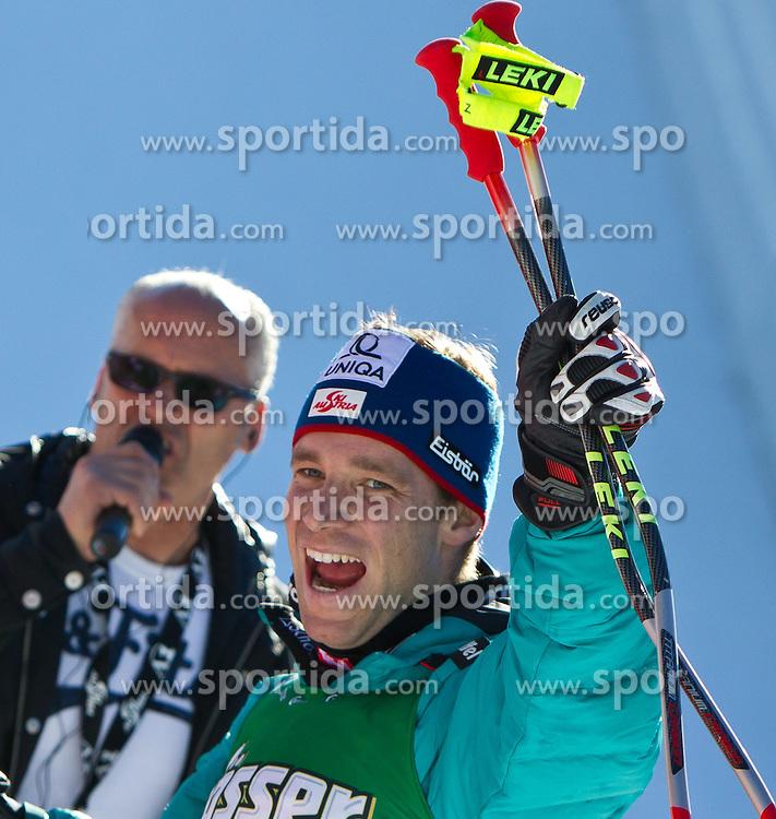 05.02.2011, Hannes-Trinkl-Strecke, Hinterstoder, AUT, FIS World Cup Ski Alpin, Men, Hinterstoder, Super-G, im Bild zweiter Benjamin RAICH (AUT) // Benjamin RAICH (AUT) second place during FIS World Cup Ski Alpin, Men, Super-G in Hinterstoder, Austria, February 05, 2011, EXPA Pictures © 2011, PhotoCredit: EXPA/ J. Feichter