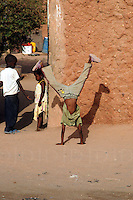 Niger, Agadez, 2007. Children play in the later afternoon on the outskirts of Agadez.