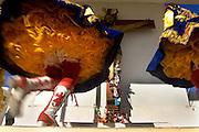 Mujeres participan en la fiesta religiosa  de La Tirana, realizada en honor a la Virgen del Carmen en el pueblo de La Tirana, ubicado 1.773 kilómetros al noreste de Santiago (Chile). La Tirana, población que cuenta con 600 habitantes, recibe entre 200.000 y 250.000 visitantes durante la semana de celebraciones a la que asisten fieles provenientes de diversas partes de Chile, Perú y Bolivia.