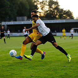 APRIL 1:  Dover Athletic against Bromley in Conference Premier at Crabble Stadium in Dover, England. Dover's forward Kane Richards holds the ball up.  (Photo by Matt Bristow/mattbristow.net)
