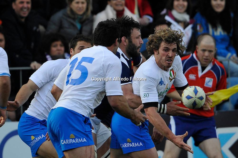 Foto Alfredo Falcone - LaPresse<br /> 12 03 2011 Roma ( Italia )<br /> Sport Rugby<br /> Italia vs Francia<br /> Torneo Sei Nazioni 2010 2011 - Stadio Flaminio di Roma<br /> Nella foto: Mirco Bergamasco<br /> <br /> Photo Alfredo Falcone - LaPresse<br /> 12 03 2011 Roma ( Italy )<br /> Sport Rugby<br /> Italia vs Francia<br /> Six Nations 2010 2011 - Flaminio Stadium of Roma.<br /> In the pic:Mirco Bergamasco