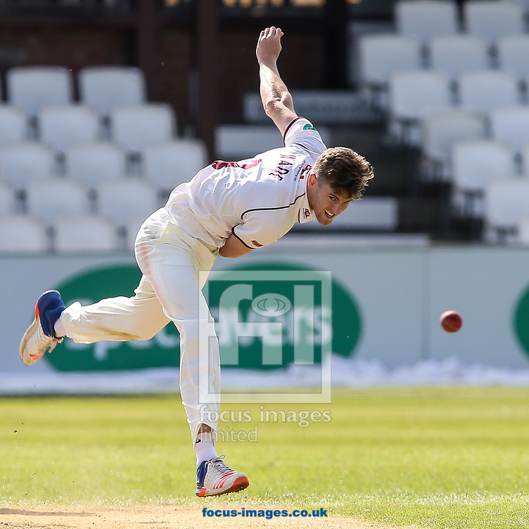 Gareth Wade of Northamptonshire CCC in delivery stride during day two of the Friendly match at the County Ground, Northampton<br /> Picture by Andy Kearns/Focus Images Ltd 0781 864 4264<br /> 03/04/2017