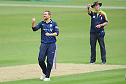 Dawid Malan of Middlesex celebrates the wicket of Sam Northeast  during the Royal London One Day Cup match between Hampshire County Cricket Club and Middlesex County Cricket Club at the Ageas Bowl, Southampton, United Kingdom on 23 April 2019.