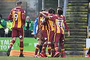 GOAL Dominic Poleon scores 3-1 during the EFL Sky Bet League 1 match between Bradford City and Rochdale at the Northern Commercials Stadium, Bradford, England on 9 December 2017. Photo by Daniel Youngs.