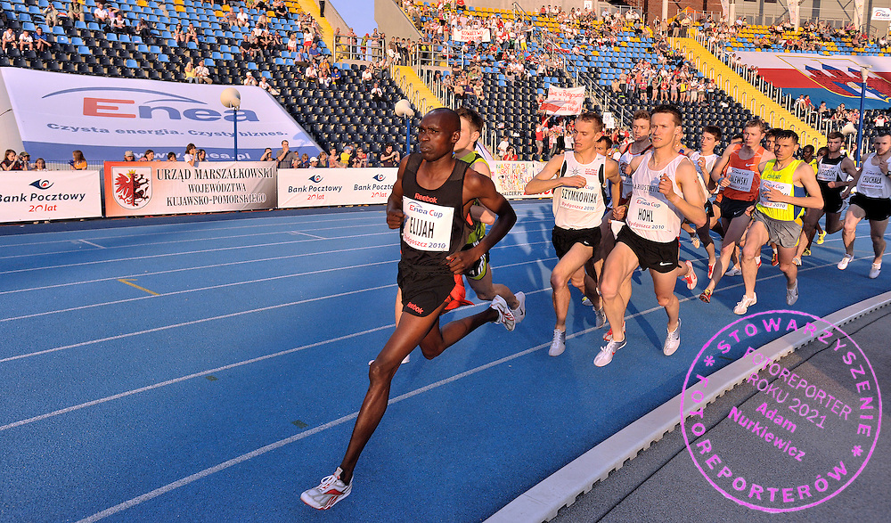 ELIJAH CHELIMO (KENYA) COMPETES IN THE MEN'S RACE 3000 METERS STEEPLECHASE DURING 10TH EUROPEAN ATHLETIC FESTIVAL ENEA CUP 2010 IN BYDGOSZCZ, POLAND...POLAND , BYDGOSZCZ , JUNE 06, 2010..( PHOTO BY ADAM NURKIEWICZ / MEDIASPORT )