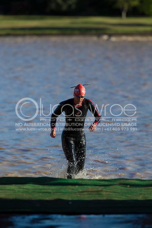 . 2012 Ironman Shepparton 70.3 Triathlon. Shepparton, Victoria, Australia. 18/11/2012. Photo By Lucas Wroe