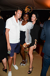 The Johnnie Walker Gold Label Reserve Party aboard John Walker & Sons Voyager, St.Georges Stairs Tier, Butler's Wharf Pier, London, UK on 17th July 2013.<br /> Picture Shows:-Percy Parker, Shingai Shoniwa, Amy Molyneaux