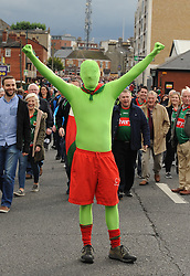 The Green man from Knockmore Neil Duggan at the All Ireland final replay.<br /> Pic Conor McKeown