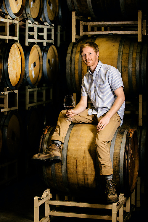 Marc Myers winemaker for The Four Graces in Dundee in Oregon portrait taken by Kathryn Elsesser Photography